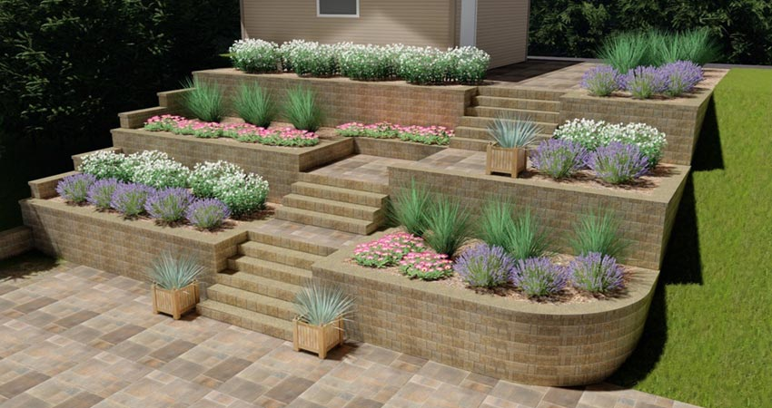 Hardscape Retaining Wall Design